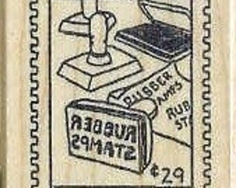 Rubber stamp postoid postage stamp