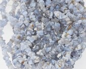 Blue Lace Agate Chips 34 Inch Strand