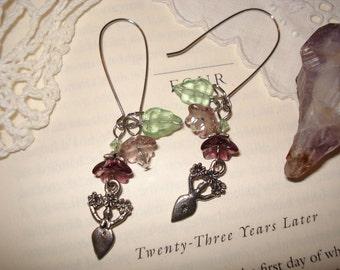 PURPLE FLORA - Goddess Of Nature - earrings