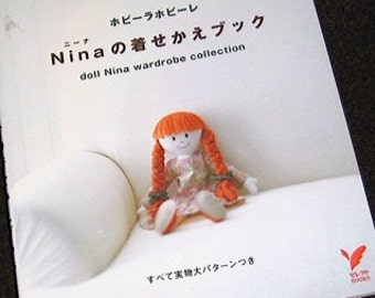 Japanese Pattern Book Nina Doll and her Wardrobe Collection