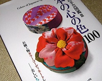 Japanese Craft Patten Book Colors of Japanese Spirit Silk Chirimen