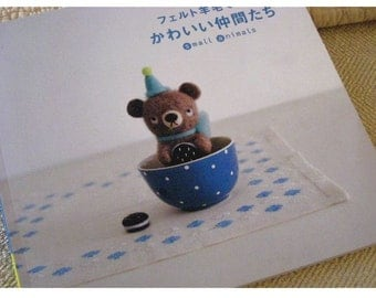 Japanese Craft Pattern Book Tiny Needle Felted Animals