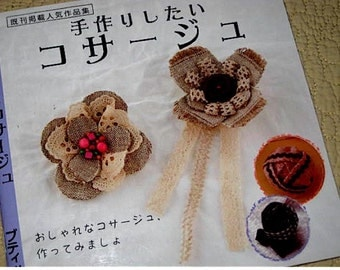 Japanese Craft Pattern Book Fabric Flower Corsages