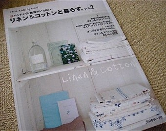 RESERVED Susan Cotten Japanese Craft Pattern Book  Cafe Special Linen and Cotton Vol 2 out of print