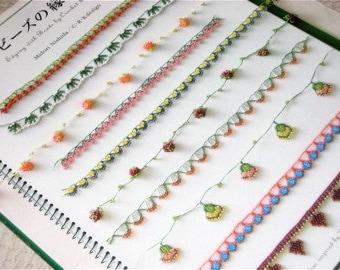 Japanese Pattern Book Bead Crochet Lace Edging