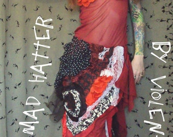 Mad Hatter Skirt ( patch work ) PRICE REDUCED for HALLOWEEN