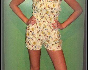 Yellow Sunshine Romper , Playsuit, Sunsuit , Jumpsuit, swim wear