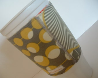 Cup Cozies made with Designer Fabrics - Set of Two