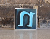 the letter N--4x4 Print on Gallery Wrapped Canvas