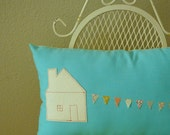 House Stringing a Banner -  Pillow