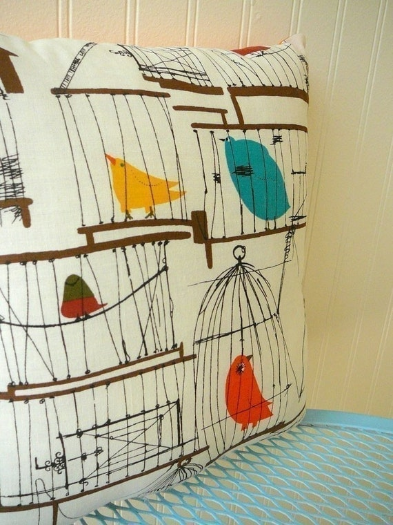 50s Birdcage Pillow
