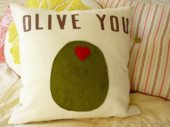 Olive You - Pillow Cover