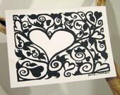 Filigree Heart - Blank card