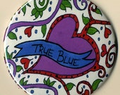 True Blue - 3 1\/2 inch pocket mirror
