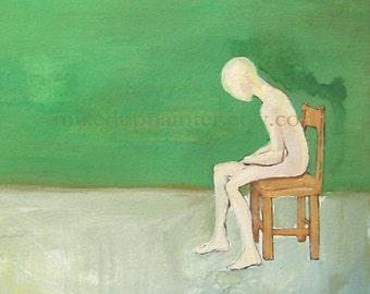 Green Room - original gouache painting