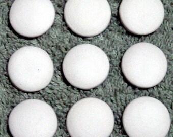 Blank Ceramic Cabochons - 10 small circles
