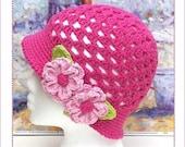 Pretty N Pink Cloche Hat Crochet Pattern