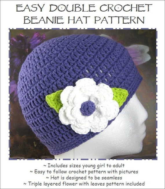 Easy Double Crochet Beanie Hat with Triple by ...