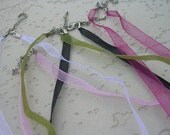 Reserved listing for WhippetGreat - Organza Ribbon necklace