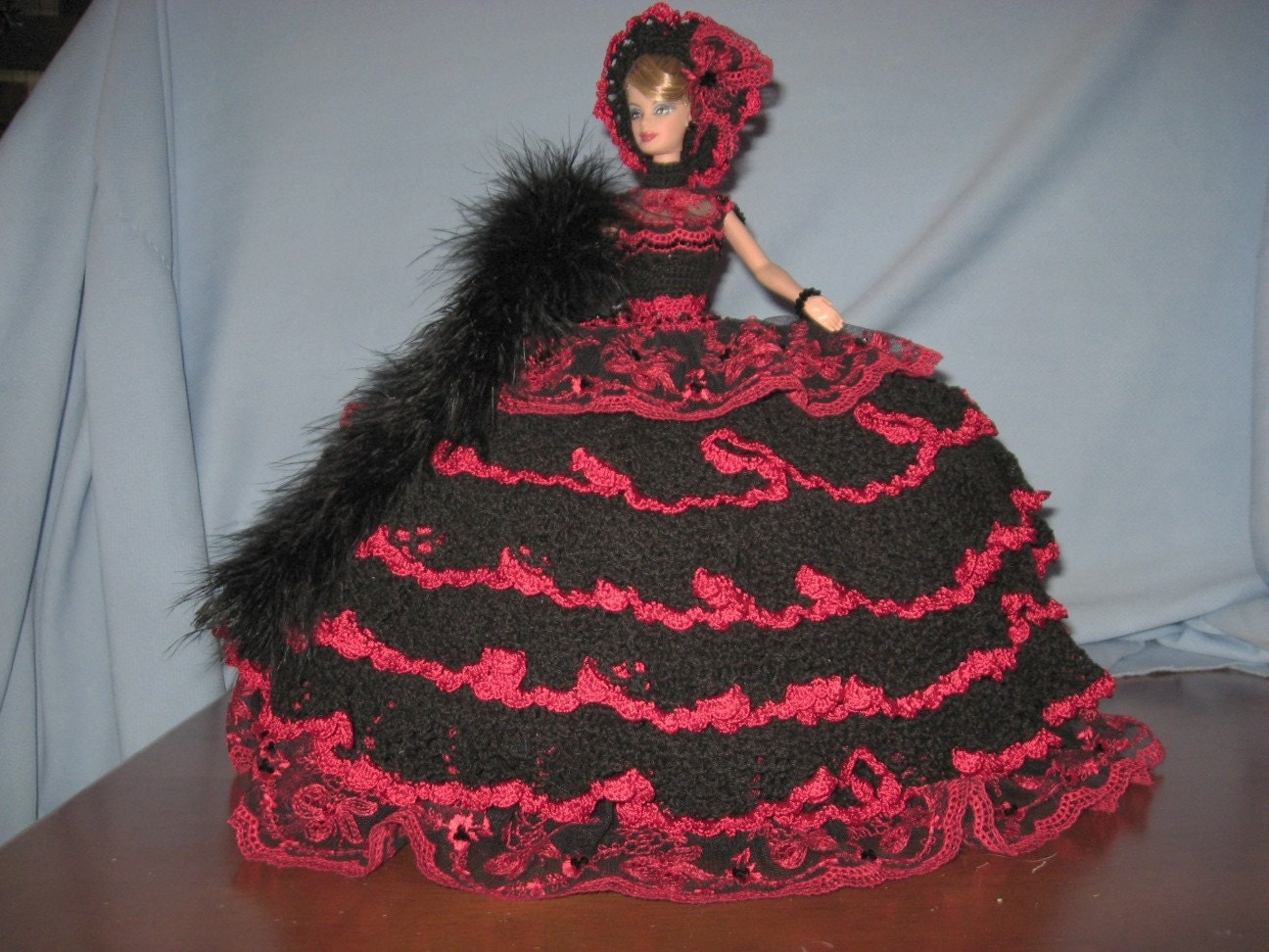 SALE OOAK Hand Crocheted Barbie Bed Pillow Doll by ...