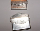 144 small matte silver plated over brass charm pendant envelopes with an I love you note inside