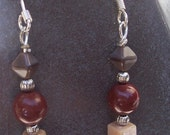 Raspberry Mocha earrings