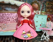 blythe lace blouse & handpainted skirt
