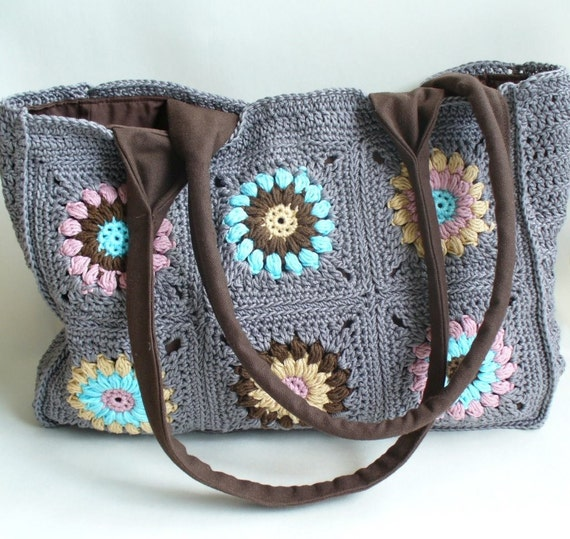 Crochet Granny Square Tote Bag Pattern : All Bags & Purses