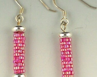 Peyote Beaded Bead Earrings