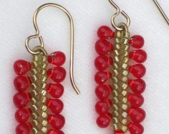 Herringbone Ribbon Earrings