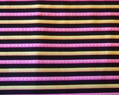 Black and Pink Stripe Fabric----Lakehouse Cotton Fabric