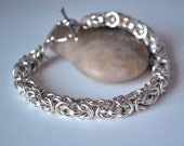 ciara bracelet - sterling silver chainmaille