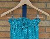 80s paperbag waist pants / vintage turquoise pants /