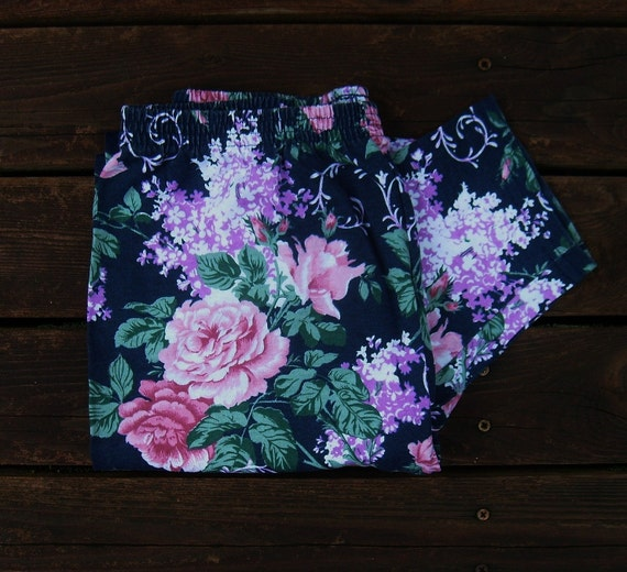 80's vintage floral leggings -  romantic -  by Freestyle Collection
