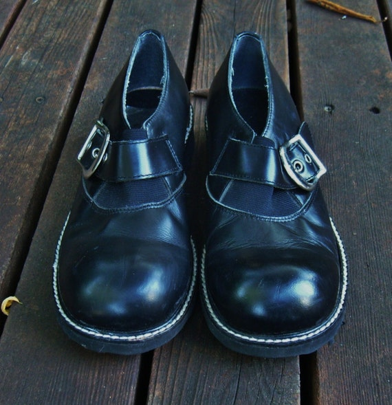 80's vintage London Vibe shoes -  Italy -  steampunk -  7 -  by Freestyle Collection
