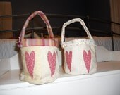 MOVING SALE! Heart Patchwork Pails