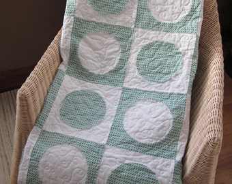MOVING SALE!! Circles and Squares Lap Quilt
