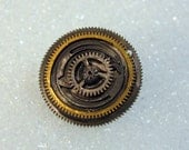 Vintage Pocket Watch Pin (Portal Gears)