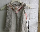 Custom Linen Tea Party Tunic in your size an color
