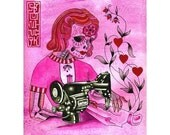 Sewing in the Afterlife Print