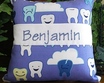 Personalized Tooth Fairy Pillow - Happy Sad Teeth