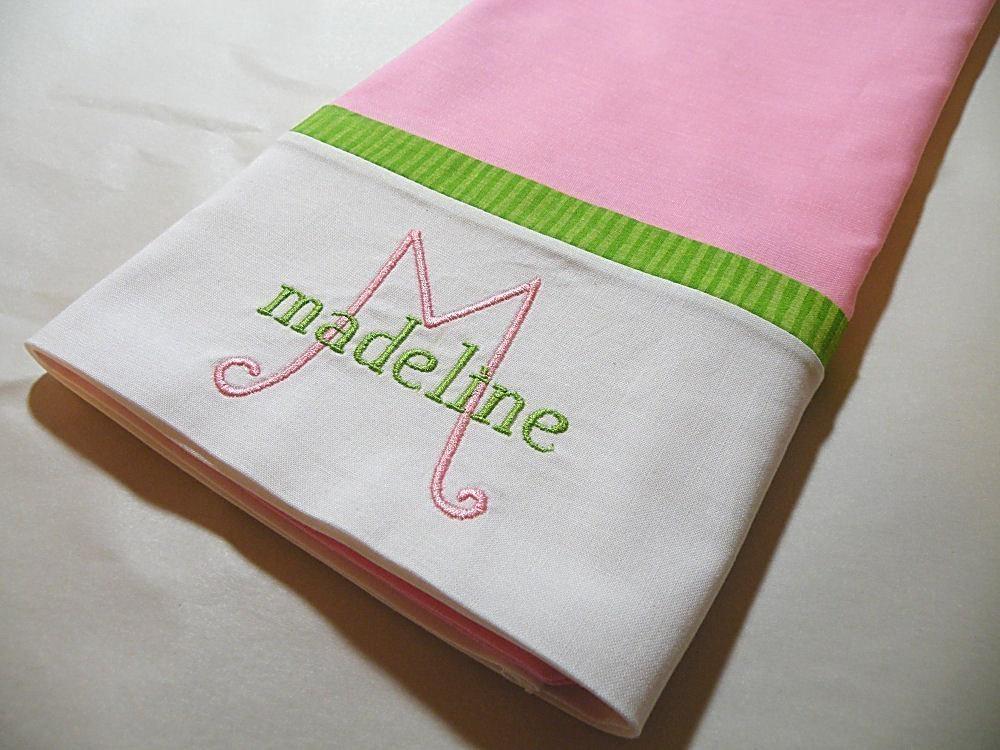 Personalized Pillowcase Monogrammed Pillowcase Personalized
