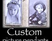 Holiday christmas personlized custom photo solder memory glass art pendant charm necklace Mom wedding shower baby birthday -FREE SHIP US