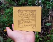"Poetry Zine ""Let's Go to the Park"" // illustration zine / art zine / Richmond, VA / Maymont Park / nature zine / rhyming poetry / nature"
