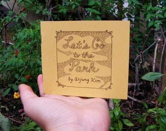 "Poetry Zine ""Let's Go to the Park"" // illustration zine / art zine / Richmond, VA / Maymont Park / nature zine / rhyming poetry / nature"