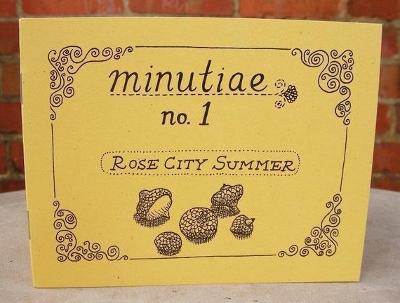 """Zine """"Minutiae No. 1: Rose City Summer"""" // Illustration zine / art zine / Portland Oregon / perzine / bicycle / summer / motorcycle"""