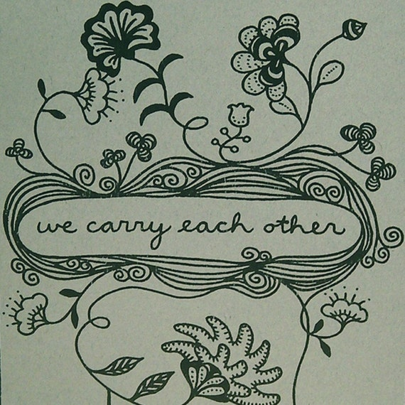 We Carry Each Other - Illustrated Book