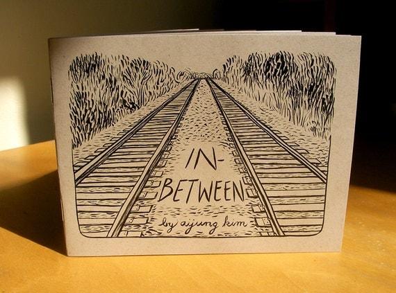 "Zine ""In-Between"" // Travel zine / perzine / illustration zine / memoir zine / train zine / relationships zine / identity / conversation"