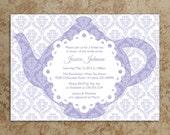 Tea Party Invitation - DIY Printable PDF - Tea Party Invite - Baby Shower Invitation - Bridal Shower Invitation - Birthday Invite