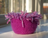 violet fizz felted wool bowl amethyst purple